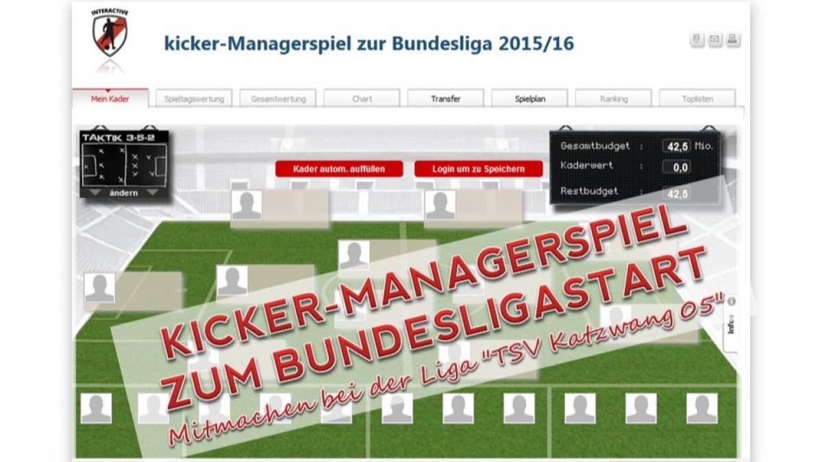 Kicker Managerspiel Bundesliga